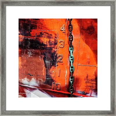 Nautical Industrial Art Again Square Framed Print