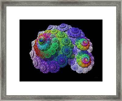 Nautical Love Spiral  Framed Print