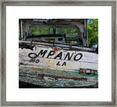 Framed Print featuring the photograph Nautical Miles by Lori Mellen-Pagliaro