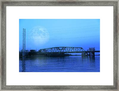 Nautical Night Framed Print by Betsy Knapp