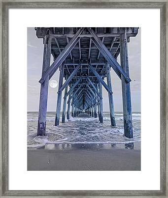 Nautical Night Light Framed Print by Betsy Knapp