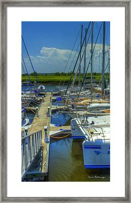 Nautical Noses Brunswick Georgia Sailboats Art  Framed Print by Reid Callaway