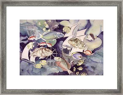 Nautical Players Framed Print by Liduine Bekman