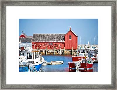 Nautical Rockport Days Framed Print
