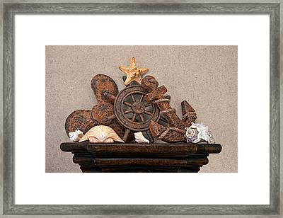 Nautical Still Life Iv Framed Print by Tom Mc Nemar