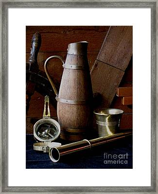 Nautical Things Framed Print by Pauline Ross