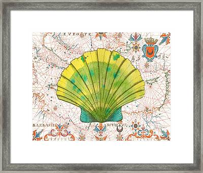 Framed Print featuring the painting Nautical Treasures-d by Jean Plout