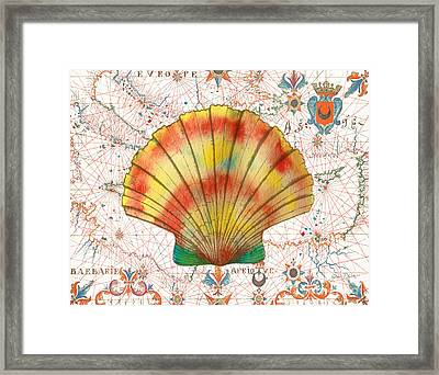 Framed Print featuring the painting Nautical Treasures-f by Jean Plout