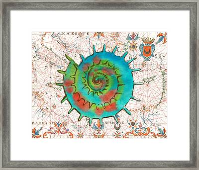 Framed Print featuring the painting Nautical Treasures-m by Jean Plout