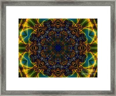 Nautical Wheel Framed Print