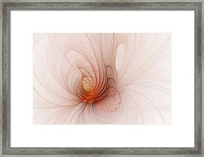Nautilus In The Fractal Ether Framed Print