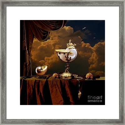 Framed Print featuring the digital art Nautilus Cups by Alexa Szlavics