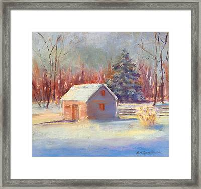 Nauvoo Winter Scene Framed Print