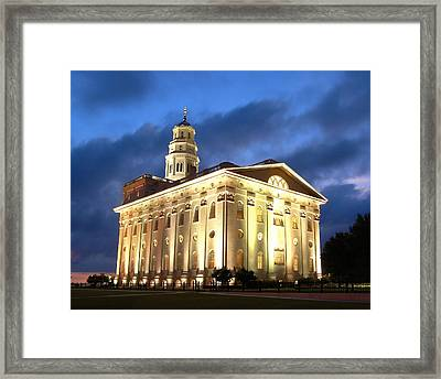 Nauvoo Temple Framed Print by John Wunderli