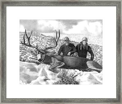 Navada Hunt 2015 Framed Print by Peter Piatt
