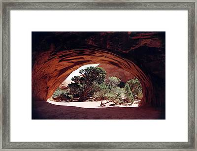 Navajo Arch Framed Print by Kathy Schumann