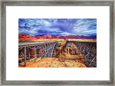 Navajo Bridge At Marble Canyon Framed Print by Carolyn Derstine