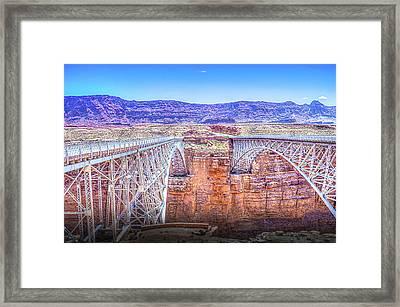Navajo Bridge Framed Print by Mark Dunton
