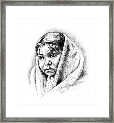 Navajo Child Framed Print