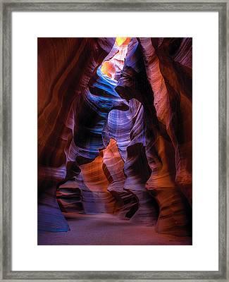 Navajo Curtains Framed Print