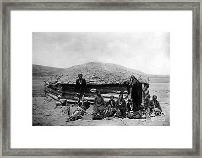Navajo Dwelling, C1906 Framed Print