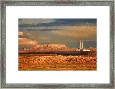 Navajo Generating Station Framed Print by Lana Trussell