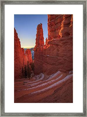 Navajo Loop Framed Print by Edgars Erglis