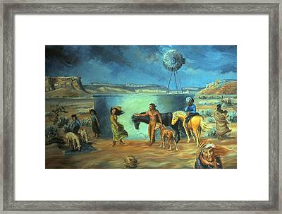 Navajo Love As Long As The Wind Shall Blow Framed Print by Dawn Senior-Trask