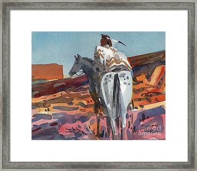 Navajo Rider Framed Print by Donald Maier