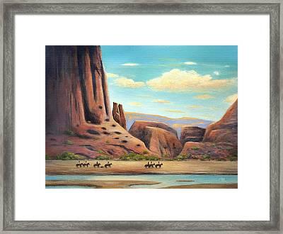 Navajo Riders Framed Print
