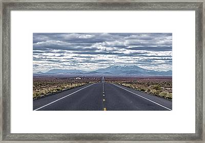 Framed Print featuring the photograph Navajo Route 15 by Charles Ables