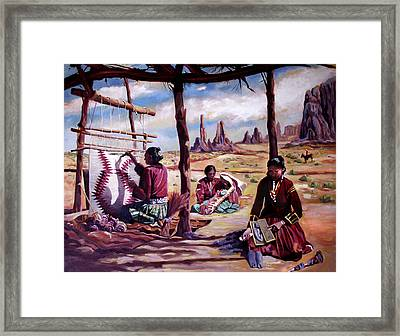 Navajo Weavers Framed Print