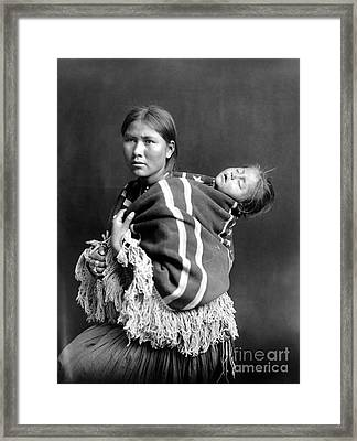 Navajo Woman & Child, C1914 Framed Print by Granger