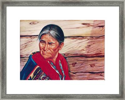 Navajo Woman Framed Print