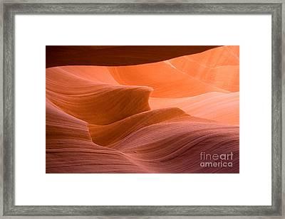 Navajos Lower Antelope Canyon Framed Print by Julia Hiebaum