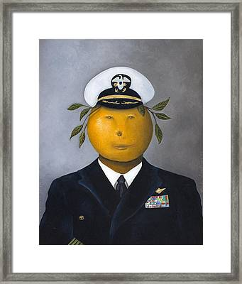 Naval Officer Framed Print by Leah Saulnier The Painting Maniac