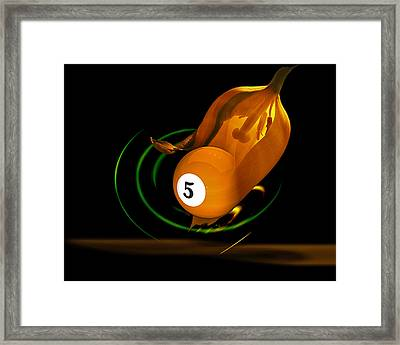 Naval Orange Framed Print by Draw Shots