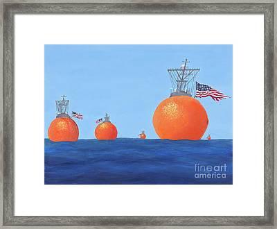 Naval Oranges Framed Print