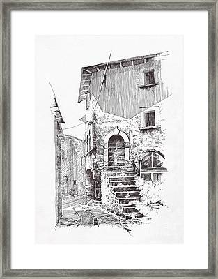 Navelli Dip Pen Sketch  Framed Print