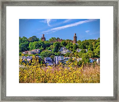 Navesink Light On The Hill Framed Print