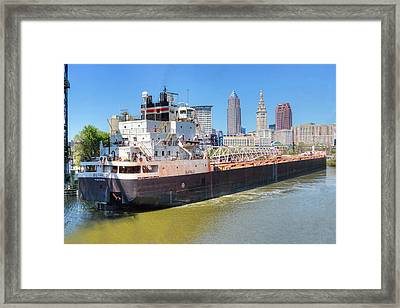 Navigating The Cuyahoga Framed Print