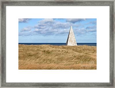 Navigation Daymark - Lindisfarne Framed Print by Bryan Attewell