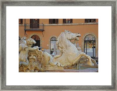 Navona Fountain Framed Print by JAMART Photography