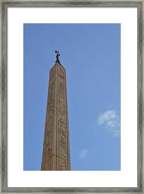 Navona Dove Obelisk Framed Print by JAMART Photography