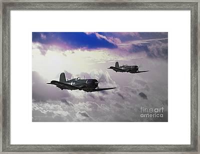 Navy Corsair Framed Print by J Biggadike