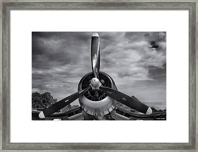 Navy Corsair Propeller Framed Print by Roger Wedegis