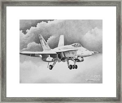 Navy Hornet Framed Print