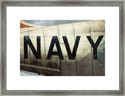 Framed Print featuring the photograph Navy - Kaman K-16b Experimental Aircraft by Gary Heller