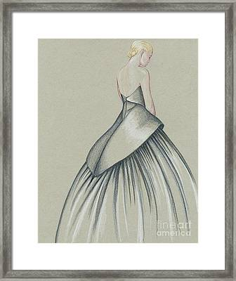Navy Lady Framed Print by Samantha Burns