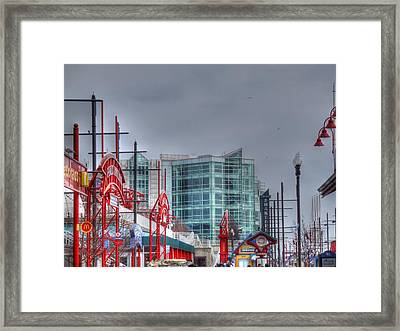 Navy Pier Framed Print by Barry R Jones Jr